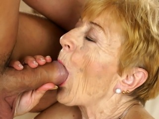 Naughty granny still loves hard dick