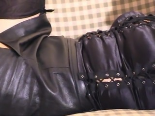 Girlfriend in Spike-Heeled Boots, FF Nylons and Leather Mini