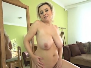 Big tits mature strips