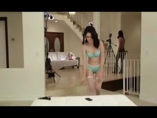 Teen Lesbian's First Time Ass Licking at Porn Shoot