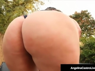 BBWs Angelina Castro & Virgo Peridot Give BBC A Hot FootJob!