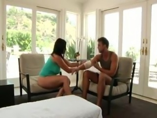 Brunette milf and step-son