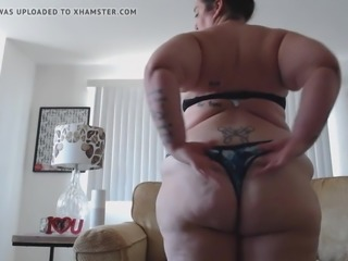 Fat cellulite ass