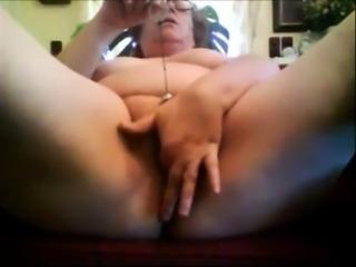 Close up toying fat ass