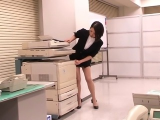 Cute Japanese office girl gets her hairy pussy banged in a POV shoot