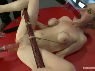 Fucking Machine Giving Blonde Penny Pax a Double Penetration Fuck