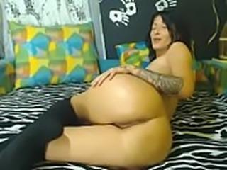 Brunette showing her body