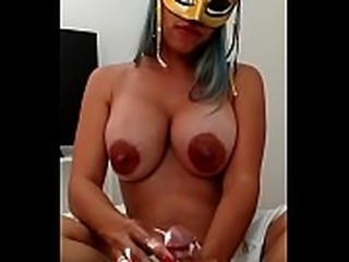 Xania Lombar, handjob with oil and my bigtits loaded with breast milk for my...