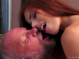 Susana Melo sucks and rides an old man's wang in hardcore clip