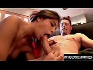Lucky Old Man Gets to Stuff Tight Teen Princess Natalie Monroe