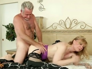 Filthy Family Volume stockings on blonde