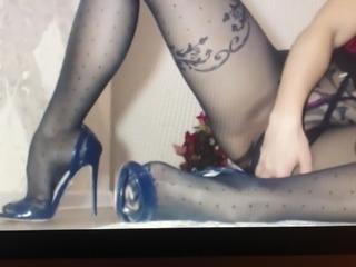 Pantyhose high heels and lush