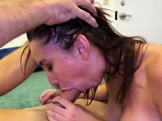 Enchanting young floosy Cece Capella blows big fang