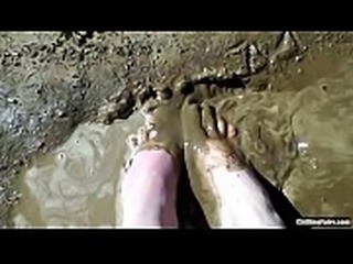 Chilling Fairy Playing Barefoot in the Mud