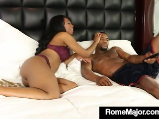 BBC Rome Major Fucks Chocolate Chick Mocha Menage!