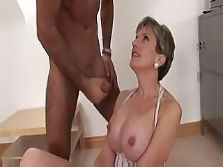 Busty mature Sonia takes on his hard cock and sucks and fucks