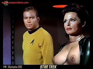 A slide show of over 100 pictures of the Star Trekgirls nude.