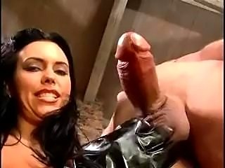 Sexy MILF Angelica Sin gives a sexy handjob.