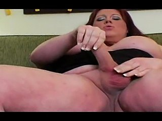 Busty Fattie Jerking Her Pole Till Cumshot