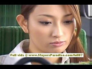 Nao yoshizaki sexy asian doll enjoys on a bus ride  free