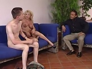 Mature woman caught with young loer