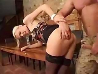 Tight blonde euro chick destroyed