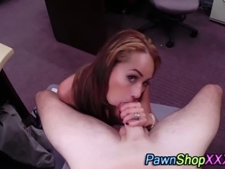 Real big titty slut gets cumshot facial on spycam for fair price